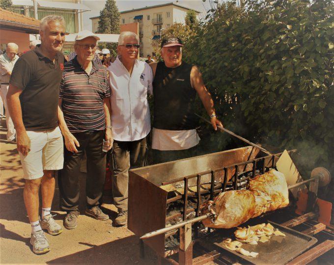 Avec Fabrice, Gérard et notre chef Lulu !